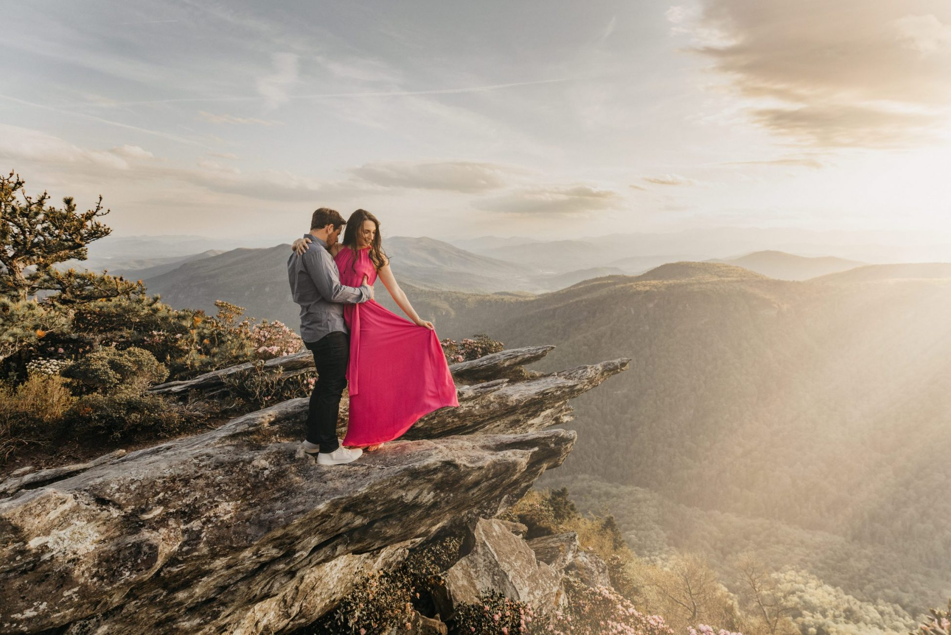 Adventure Engagement Session Photograph Hawksbill Mountain Engagement Session