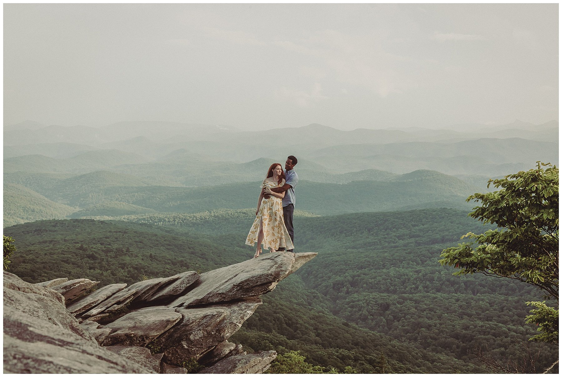 Engagement Session at Rough Ridge NC Hunter Kittrell Photography